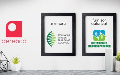 Deretica – Furnizor Autorizat Green Homes și membru al Romania Green Building Council