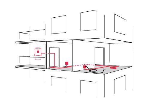 apartament Deretica Sistem central de aspirare